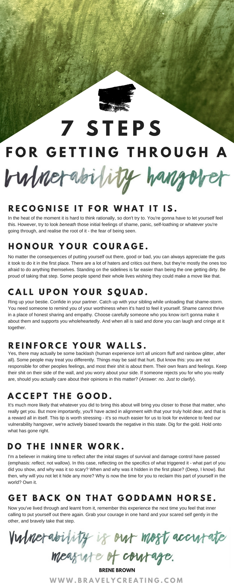 7 steps for getting through a